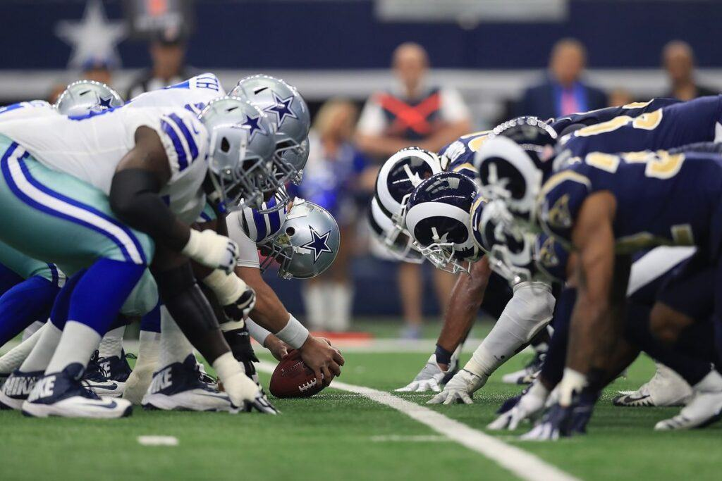 Dramatic battle between the Dallas Cowboys the Los Angeles Rams 1