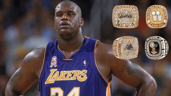 how many rings does shaq have 1