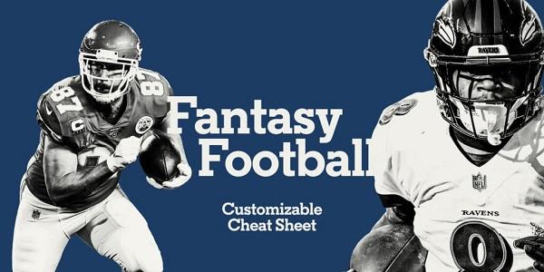 fantasy football cheat sheet